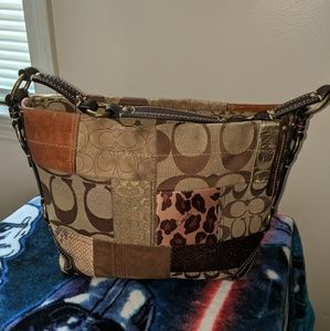 Coach Carly hobo bag, purse, patchwork